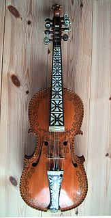 Hardanger fiddle traditional Norwegian stringed instrument