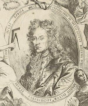 Ferdinando Galli-Bibiena - Portrait of Ferdinando Galli-Bibiena by Giuseppe Antonio Caccioli, 1707