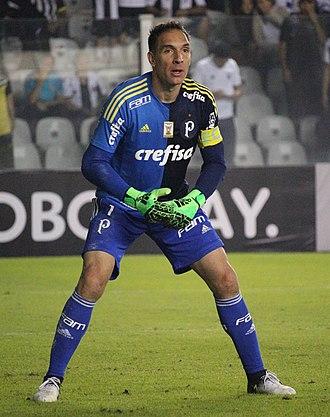 Fernando Prass - Prass playing for Palmeiras in 2017