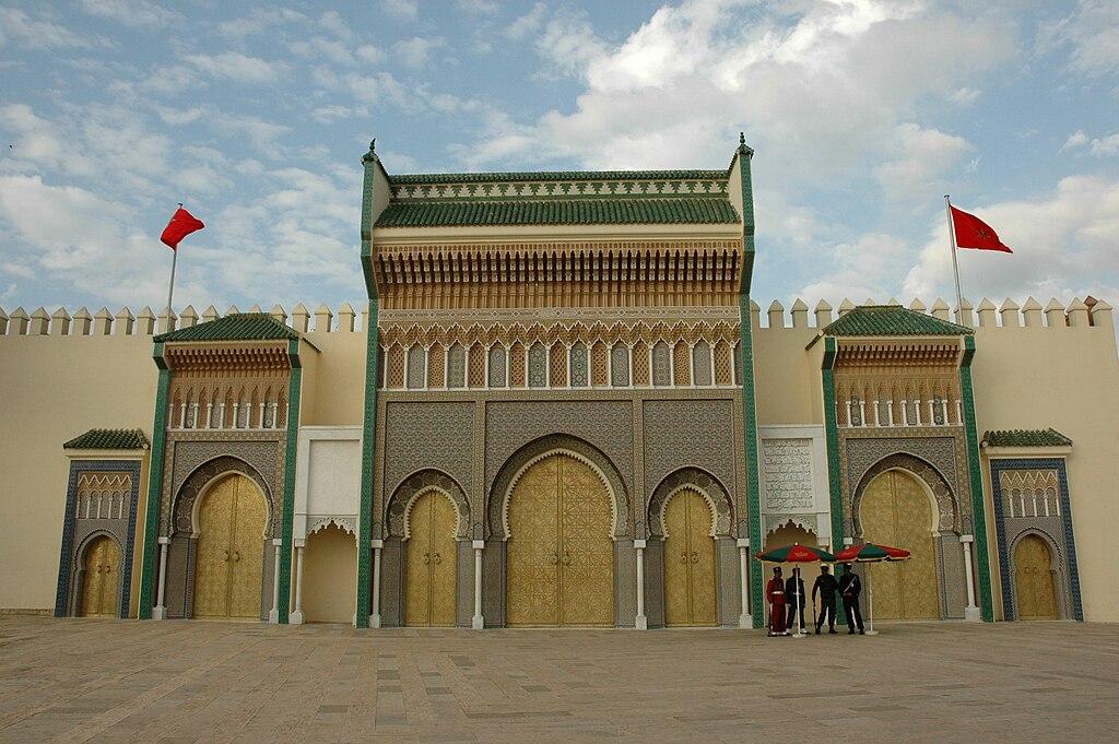 Porte du Palais Royal de Fès - Photo de Josep Renalias