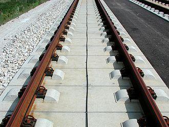 Linienzugbeeinflussung - Image: Feste Fahrbahn FFBögl