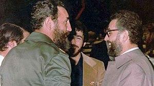 Ebrahim Yazdi - Yazdi and Fidel Castro