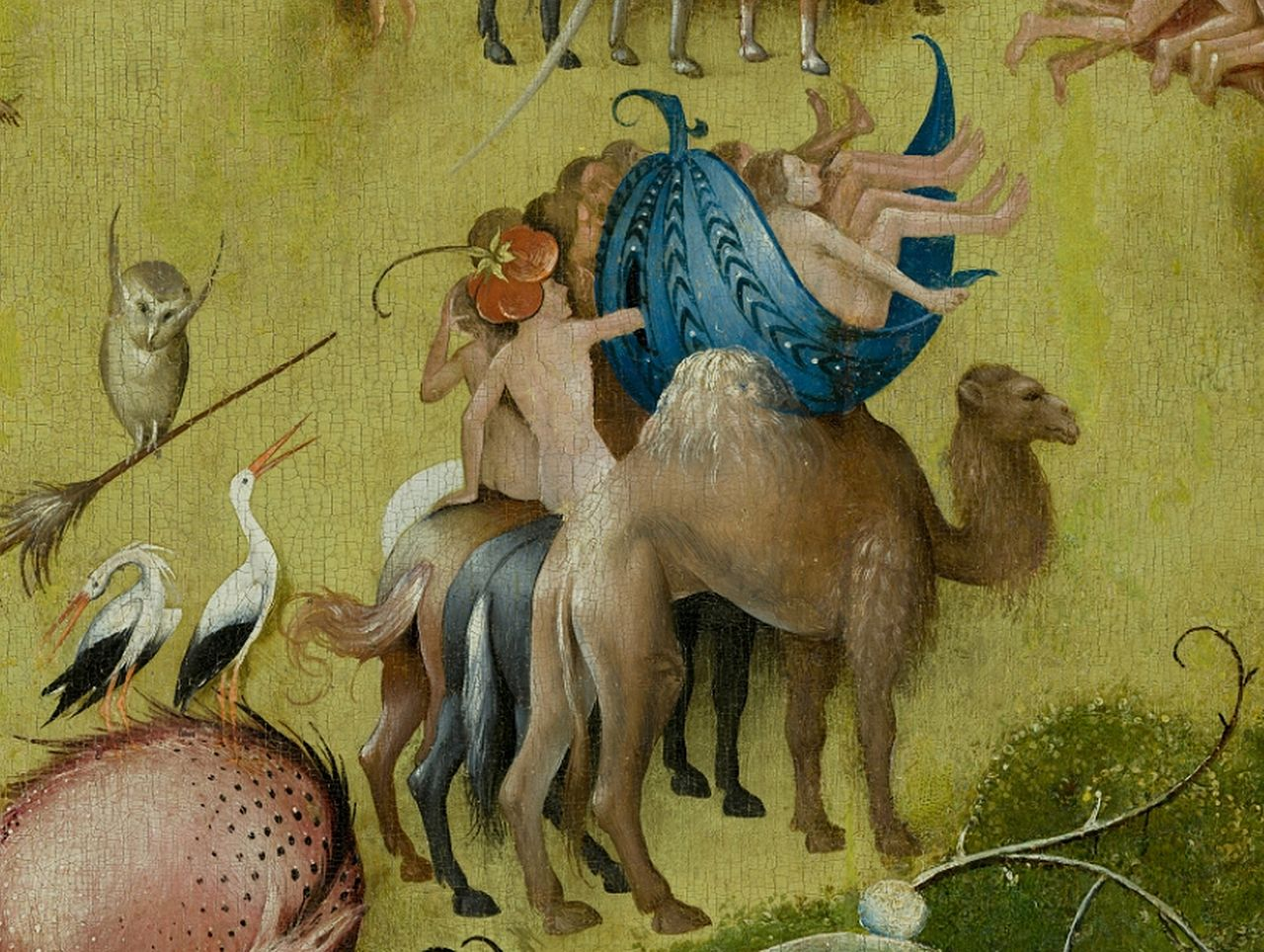 File file bosch hieronymus the garden of earthly delights center panel detail camel mid for The garden of earthly delights