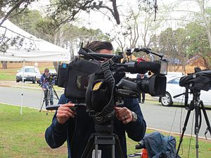 Television broadcasting in Australia - Outdoor filming for TV in Canberra (2013)