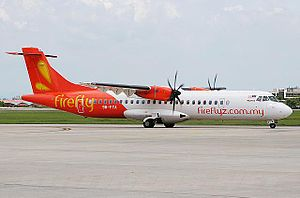 Penang International Airport - A Firefly ATR72-500 departing Penang International Airport