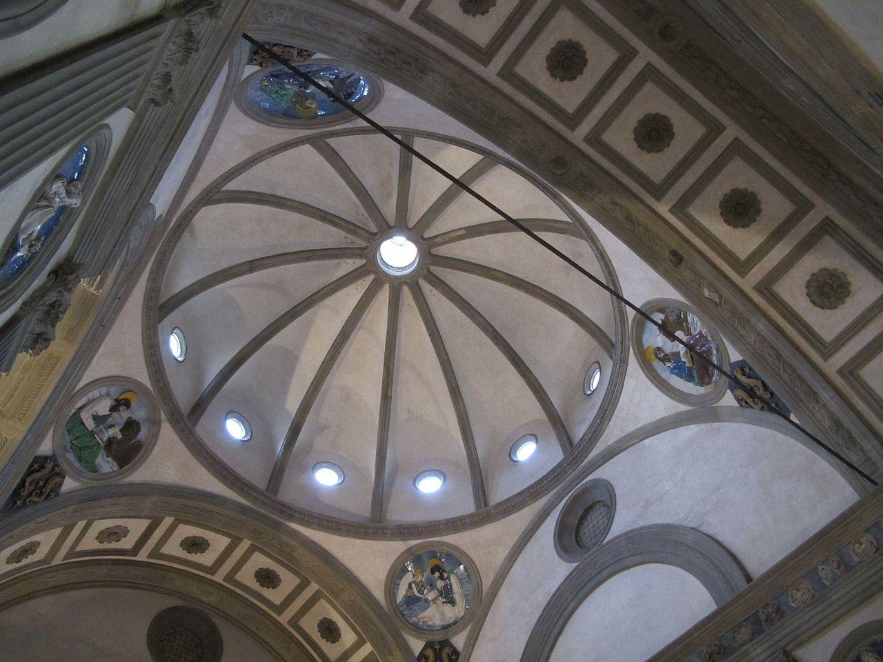 Cupola della cappella Pazzi, Basilica di Santa Croce, Firenze