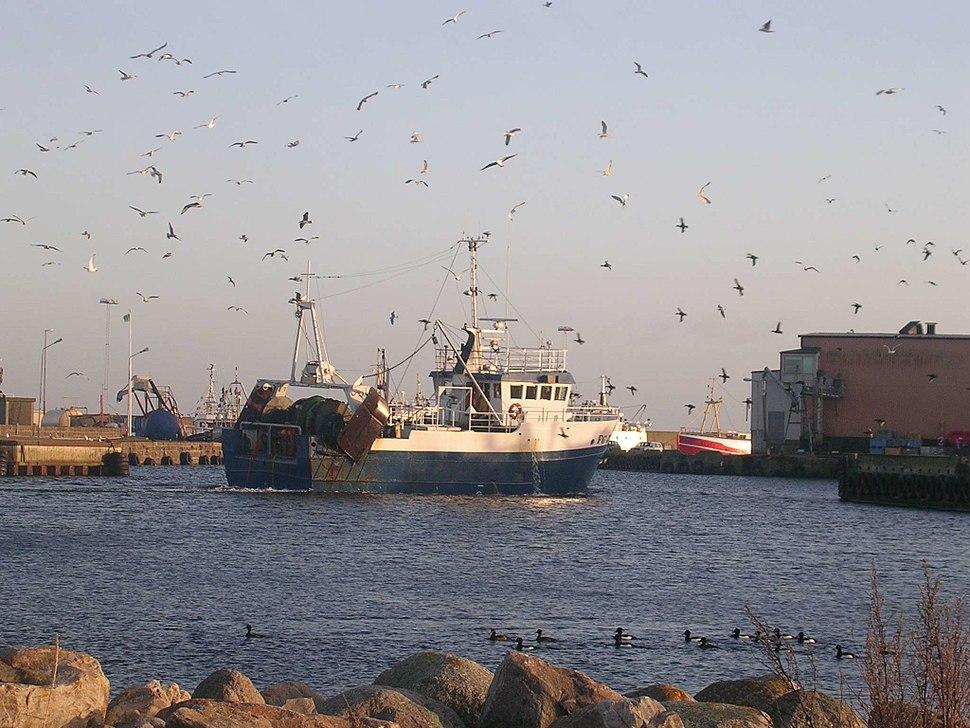 Fiskebåt i Simrishamn