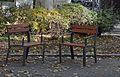 Fixed chairs at Spittelauer Platz, Vienna.jpg