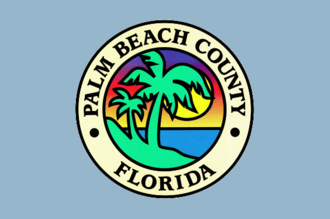 Palm Beach Gardens, Florida - Image: Flag of Palm Beach County, Florida