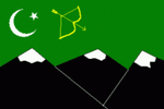 Flag of Hunza (through 1974)