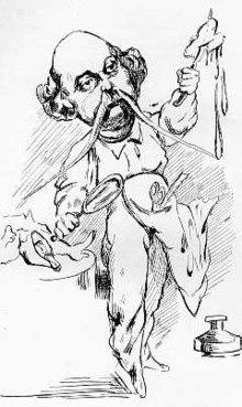 Caricatura di Flaubert che