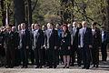 Flickr - Saeima - Svinīgā vainagu nolikšanas ceremonija Rīgas Brāļu kapos (1).jpg