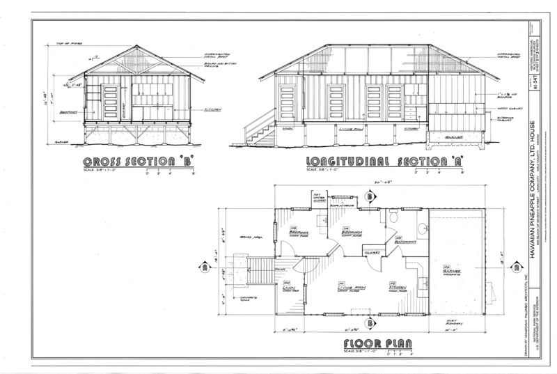 File floor plan and sections hawaiian pineapple company for Hawaii floor plans