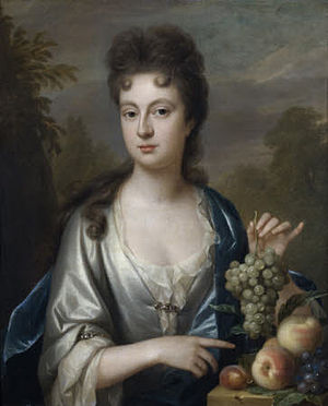 Florence Court - Florence Wrey (died 1718), daughter of Sir Bourchier Wrey, 4th Baronet (c. 1653–1696)  by his wife Florence Rolle. She was the wife of John Cole of Enniskillen, builder of Florence Court, County Fermanagh, Northern Ireland. Her grandmother was one of the earliest English women to bear the name, Florence Rolle (1630–1705), the daughter and heiress of Denys Rolle (1614–1638), of Stevenstone and Bicton in Devon. Collection of National Trust, Florence Court