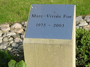 Marc-Vivien Foé - Tribute plaque at the City of Manchester Stadium