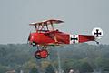 Fokker Dr.I Manfred Richthofen Takeoff 05 Dawn Patrol NMUSAF 26Sept09 (14596623861).jpg
