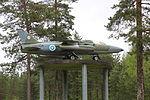 Folland Gnat Mk.1 (GN-104) Keski-Suomen ilmailumuseo.JPG