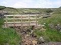 Footbridge at Lambfold Gill - geograph.org.uk - 190059.jpg