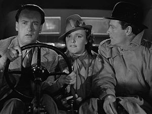 Foreign Correspondent (film) - George Sanders, Laraine Day and Joel McCrea in pursuit of an assassin