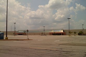 Kmart - The exterior of the first Super Kmart Center store in Medina, Ohio as it appears after its closure