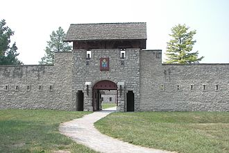 Fort de Chartres - The gatehouse of Fort de Chartres was reconstructed in the 1930s.