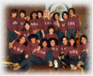 Lambda Theta Alpha - Picture of Lambda Theta Alpha Founding Mothers and Line 1