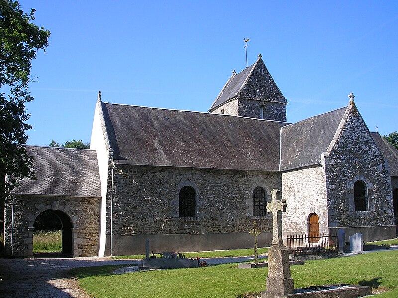 Équilly (Normandie, France). L'église Sainte-Anne.