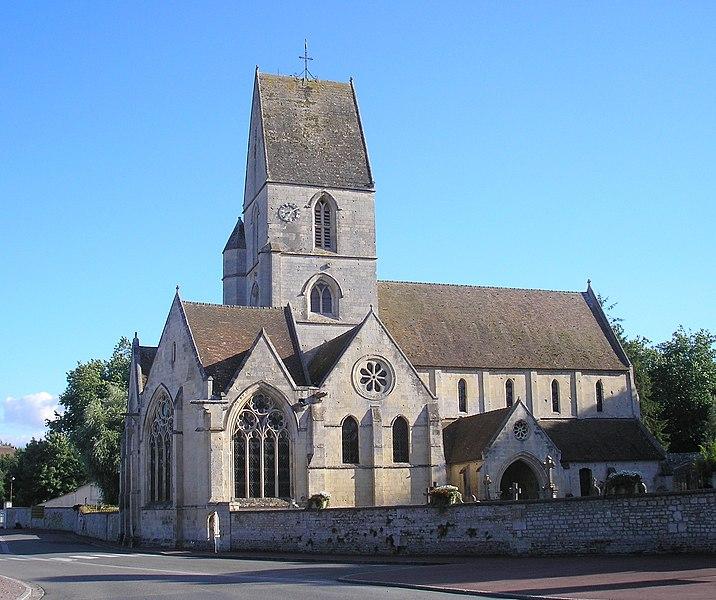 Verson (Normandie, France). L'église Saint-Germain.