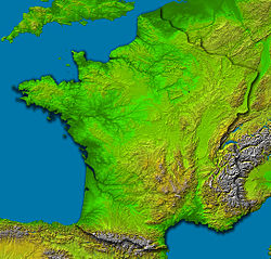 Топографічна карта франції