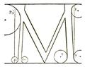 Francesco Torniello da Novara Letter M 1517.png