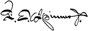 Francis E. Spinner - Image: Francis E. Spinner signature