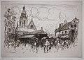 Frank Boggs, Le marché couvert de Limours, vers 1906, Musée d'art et d'histoire de la ville de Meudon.jpg