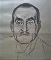 Frank Wedekind, gezeichnet von Fritz Wolff, 1918.png