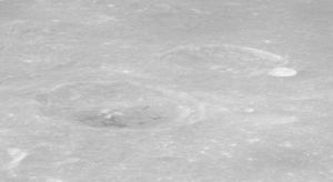 Cepheus (crater) - Oblique view of Franklin (lower left) and Cepheus (upper right), from Apollo 16