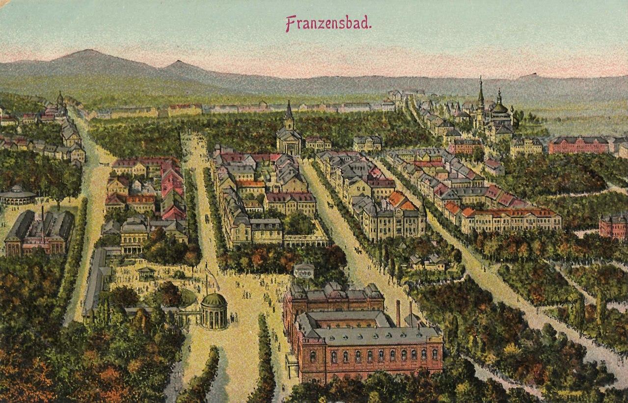 Franzensbad (CZ), Tschechien - Stadtansicht (Zeno Ansichtskarten).jpg