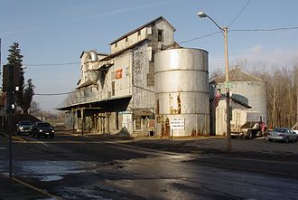 Fredericktown, Ohio - The Fredericktown Grain Elevator, site of the first mill.
