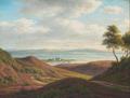 Frederik Christian Kiærskou - Landskab med udsigt over fjord, Nibe.png