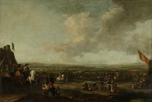 Frederik Hendrik bij de overgave van Maastricht, 22 augustus 1632