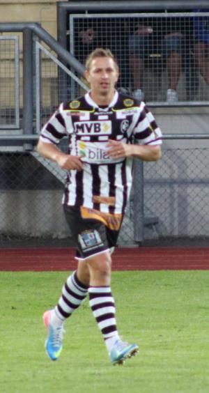 Fredrik Olsson - Olsson, playing for Landskrona BoIS in 2013.