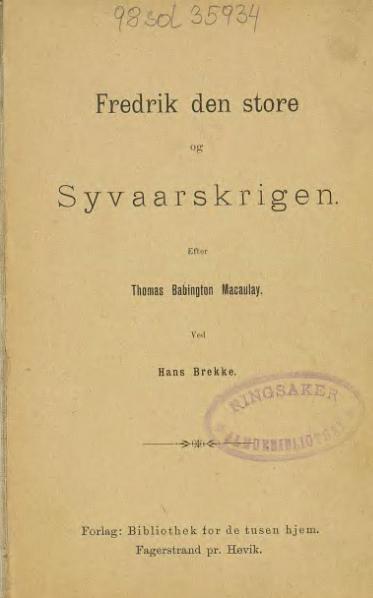 File:Fredrik den store og syvaarskrigen.djvu