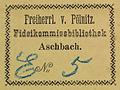 Freiherr von Pölnitz, Fideikommissbibliothek, Aschbach.jpg