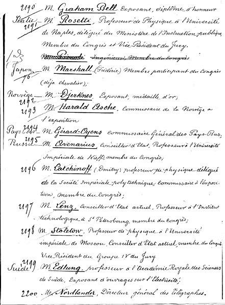 File:French Presidential Decree -Award of Legion of Honour to Helholtz, Bell and Edison -10 November 1881 Pg. 3.jpg