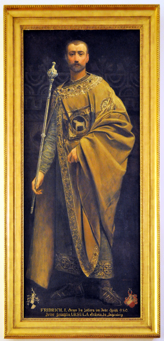 Frederick I, Count of Zollern - Painting of Friedrich I from Peleș Castle