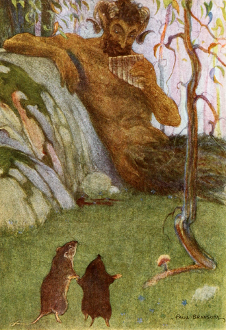 The Wind in the Willows - The Piper at the Gates of Dawn, frontispiece to a 1913 edition by Paul Bransom