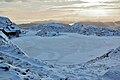 Frozen lake Ulriken Bergen Norway.jpg