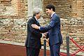 G7 Taormina Paolo Gentiloni Justin Trudeau handshake 2017-05-26.jpg