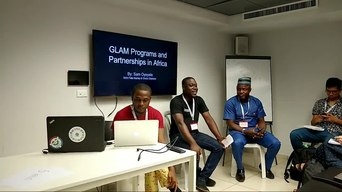 File:GLAM WIKI 2018 - GLAM Programs and Partnerships in Africa - Sam Oyeyele and panelists.webm