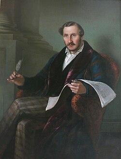 Portrait of Gaetano Donizetti by Giuseppe Rillosi, 1848 (Source: Wikimedia)