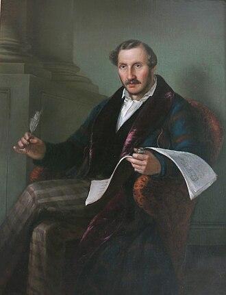 Gaetano Donizetti - Gaetano Donizetti (Portrait by Giuseppe Rillosi)