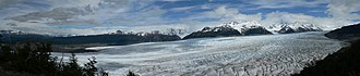 Southern Patagonian Ice Field - Panoramic view of Grey Glacier in Torres del Paine National Park  (Chilean territory)